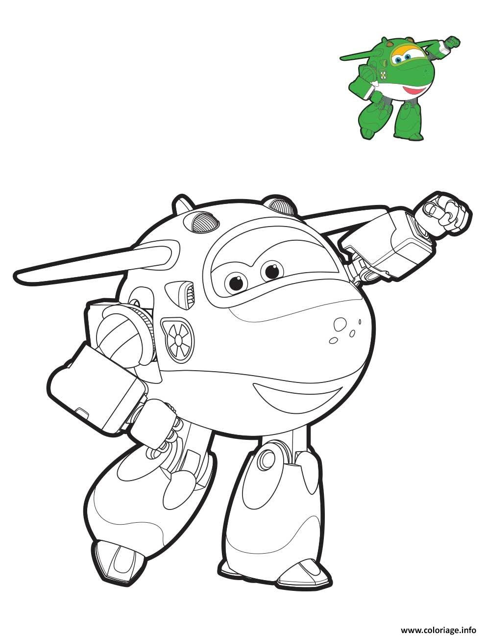 Coloriage Super Wings Mira Mode Robot Dessin   Imprimer
