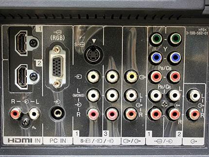 Sony Bravia KLV-40V300A (40-inch LCD Display Panel) - HDMI Jacks (Back)