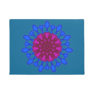 Meditative Mandala Doormat