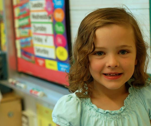Grace's last day of school