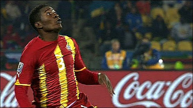 Ghana's Asamoah Gyan