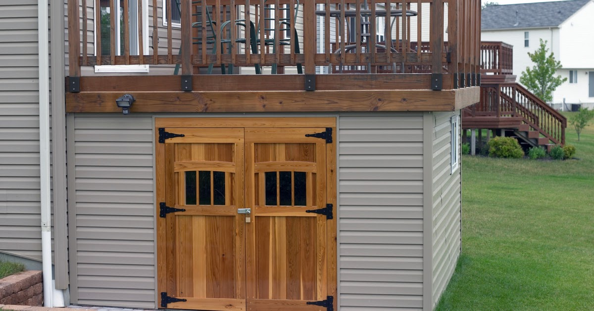 Tree sheds share under deck storage shed ideas for 16x20 deck plans