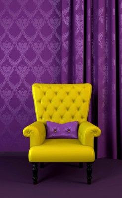 Purple & Yellow  complementary