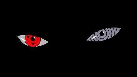 Eyes naruto: shippuden sharingan tobi black background