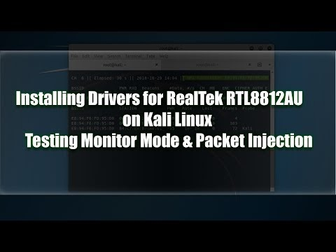 Installing rtl8812au Drivers on Kali Linux - KaliTut