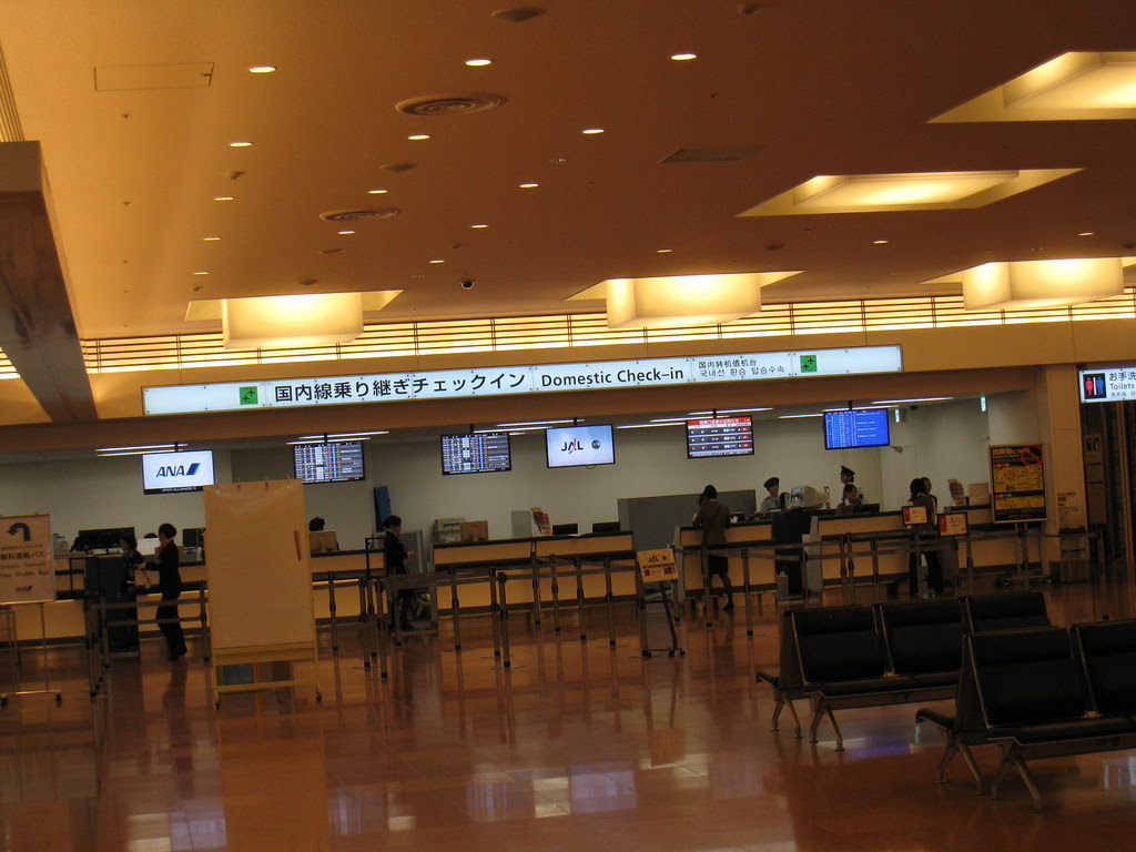 Domestic connection check-in counters at Haneda (HND) international terminal
