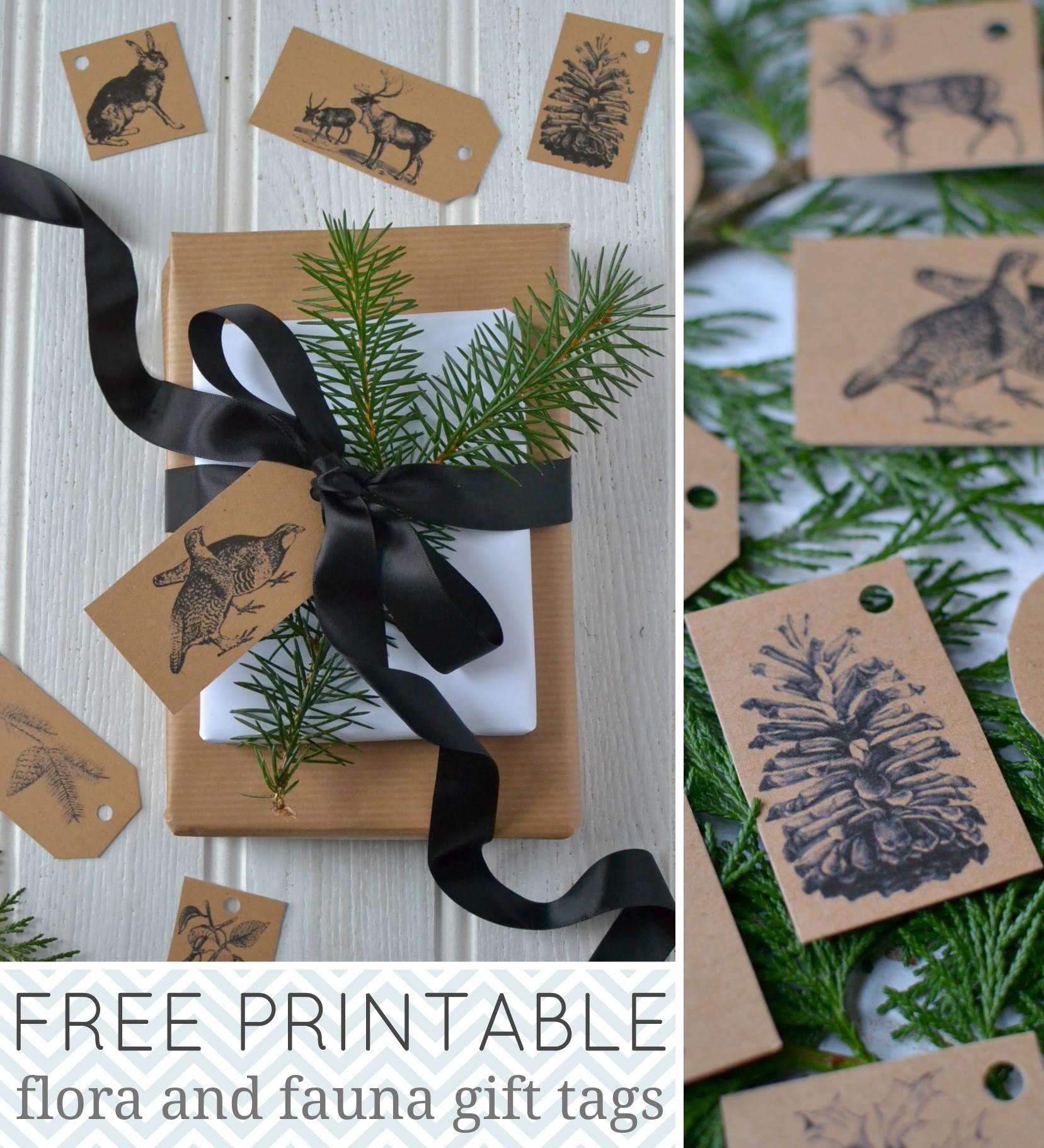 free printable gift tag