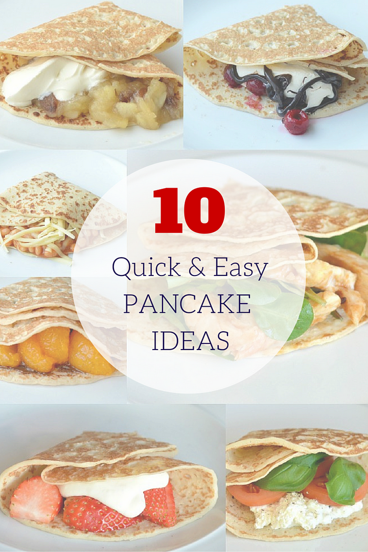 10 Easy Fillings for Pancake Day (sweet & savoury)