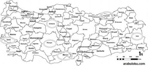 Türkiye Siyasi Haritası Boyama Gazetesujin