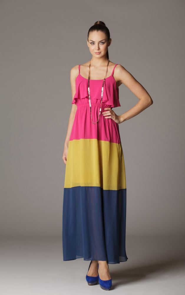 Sorbet Color Block Day Dress