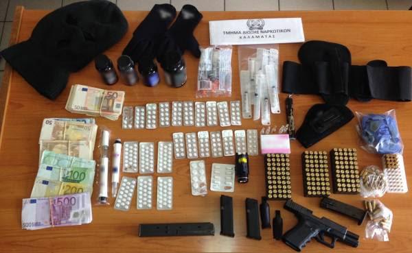 Σύλληψη 36χρονου με όπλα, ναρκωτικά και αναβολικά στον Ξηρόκαμπο Κυπαρισσίας
