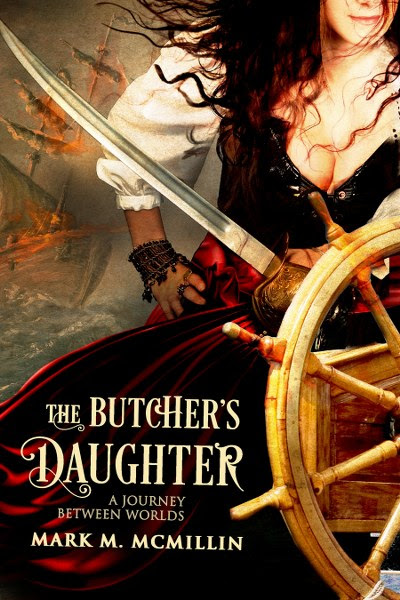 Book Cover for historical romance The Butcher's Daughter by Mark McMillin.