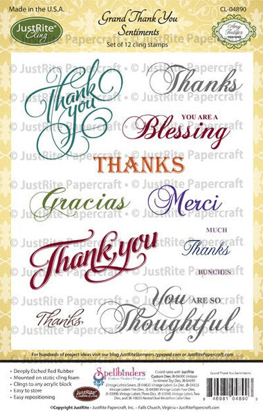 Grand Thank You Cling Stamps