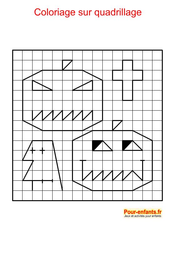 Coloriage géométrique. Citrouille d'Halloween à imprimer.