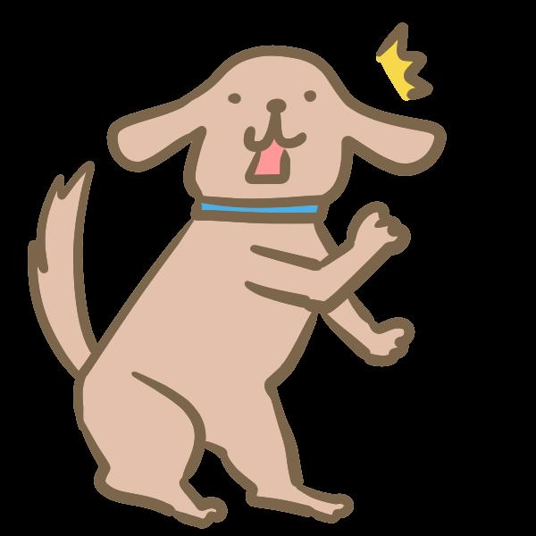びっくりする犬のイラスト かわいいフリー素材が無料のイラストレイン