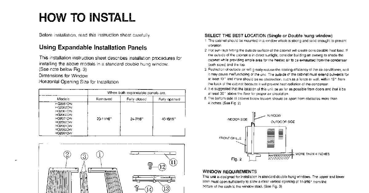 Conia Air Conditioner Manual Ca24003 Air Conditioners