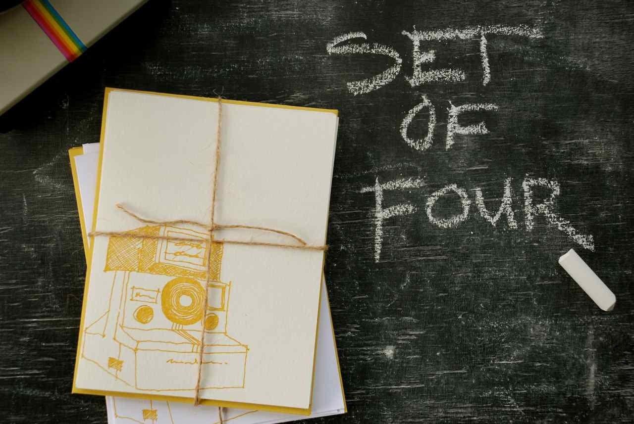 polaroid cards -set of 4