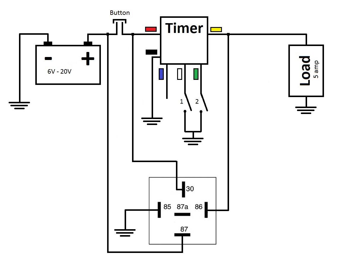 Push Button Latching Relay Wiring Diagram