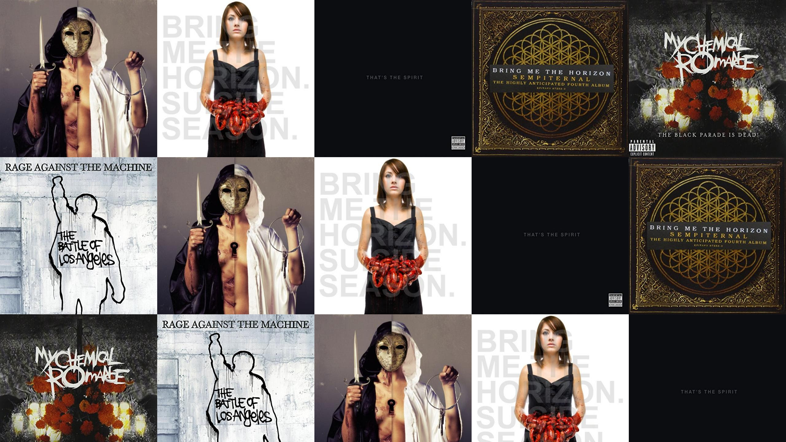 Bring Me Horizon There Hell Believe Me Suicide Wallpaper Tiled
