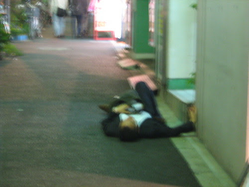 Guy passed out on the streets