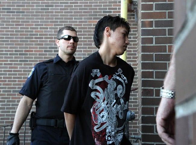 Adam Capay going into court in 2012. (Jeff Labine/DougallMedia/tbnewswatch.com)