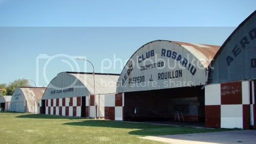 Hangars of the Aeroclub Rosario