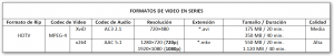 Formatos de video en series