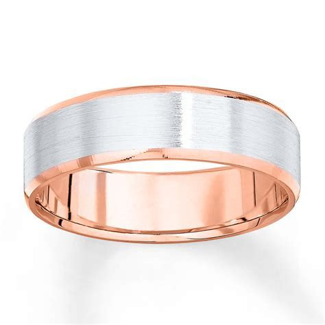 Wedding Band 10K Two Tone Gold 6mm   25247630699   Kay