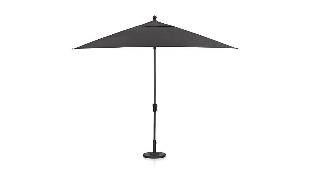 Rectangular Sunbrella ® Charcoal Patio Umbrella with Black ...