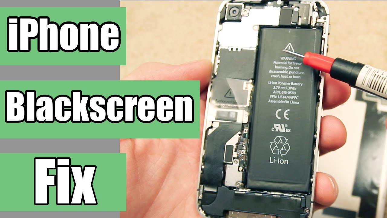 How to fix black and unresponsive iPhone screen - YouTube