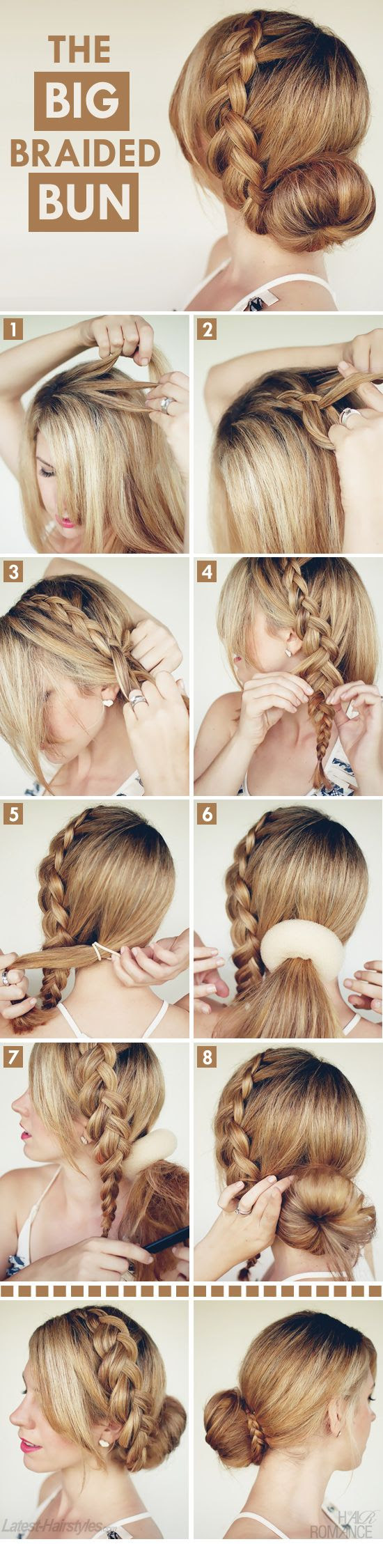 A braided bun.
