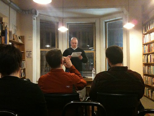 Steve Halle reading, Myopic Books, Chicago