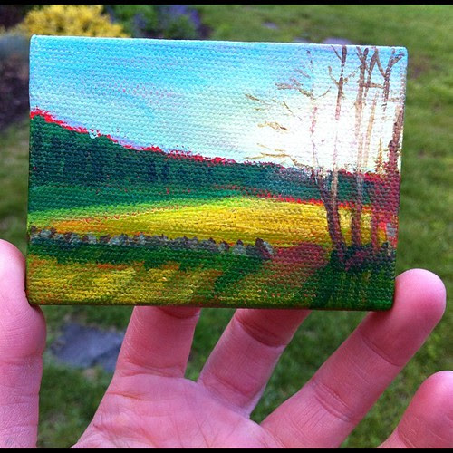 My newest form of fun: mini paintings. They make me happy every time:)