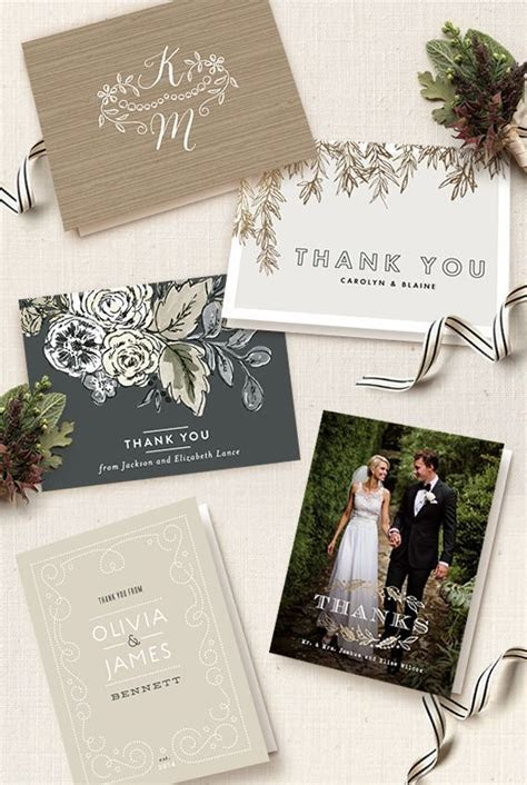 Wedding Thank You Card Etiquette   Gray Wedding   Wedding