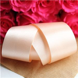35mm Satin Ribbon - Peach