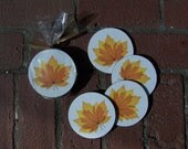FALL LEAF COASTERS - Set of 4 - CottageSupply