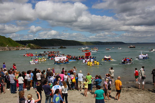 Raft Race at Looe