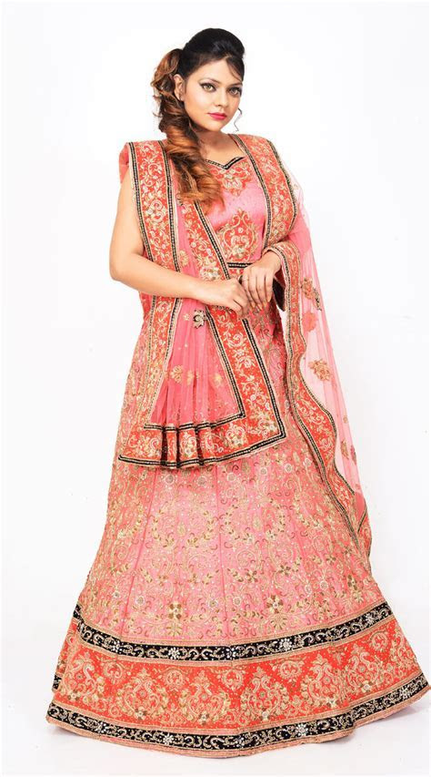 Pink Pure Silk Hand Work Designer Bridal Lehenga Choli LD08055