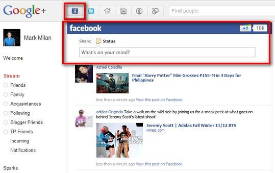 google+facebook