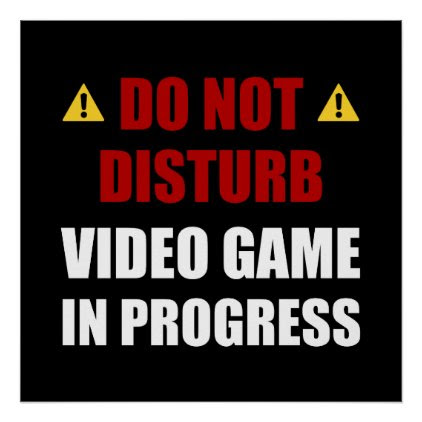 Do Not Disturb Video Game Poster