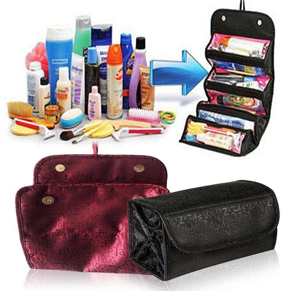 Foldable Multifunction Travel Cosmetic Bag Makeup Case ...
