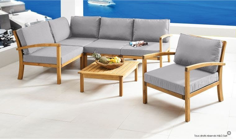 Salon Bas De Jardin En Acacia - The Best Undercut Ponytail