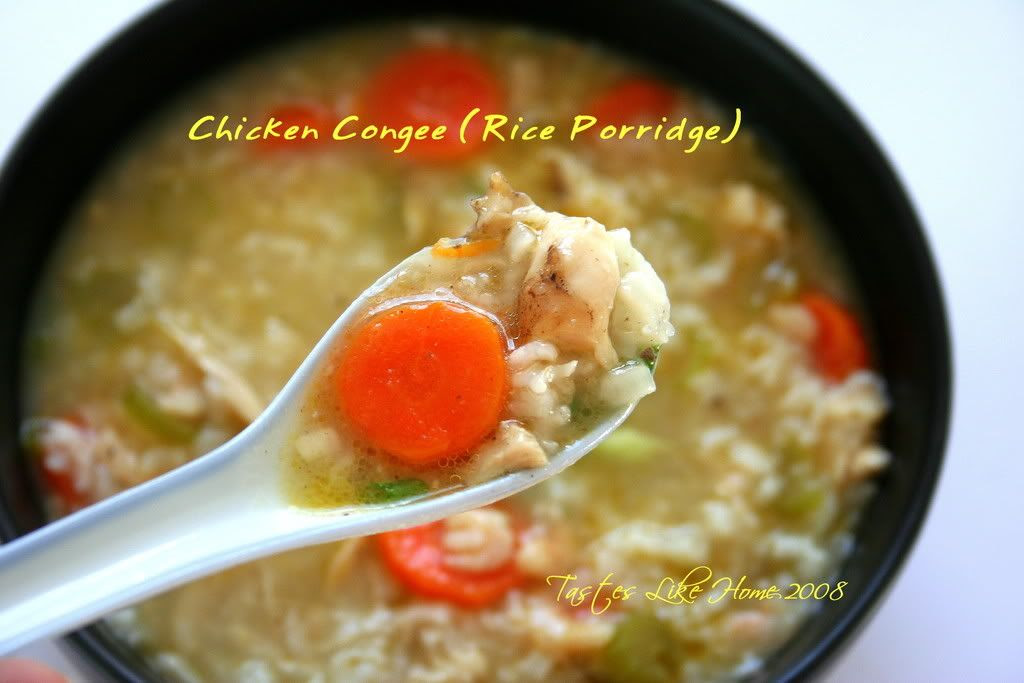 Chicken Congee (Rice Porridge)