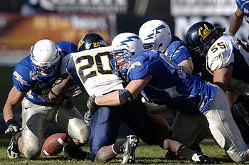 U.S. Air Force Academy senior linebacker Aaron...
