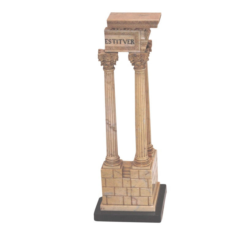 Marble Model of the ruins of the Temple of Vespasian