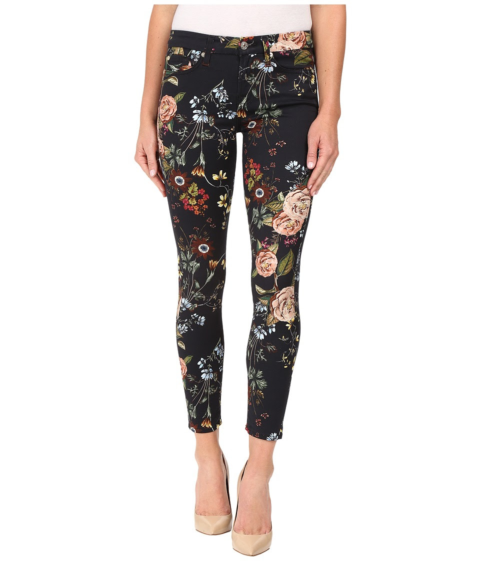 7 For All Mankind - The Ankle Skinny w\/ Contour Waist Band in English Botanical (English Botanical) Women's Jeans