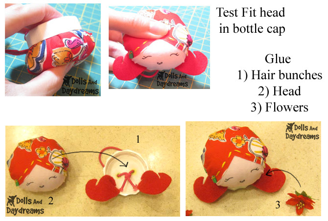 Doll Pin Cushion Tutorial Pattern