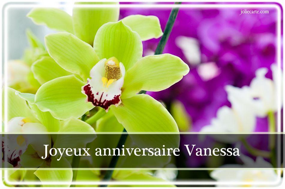 Bon Anniversaire Vanessa