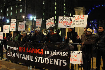 Demonstration in UK at 10 Downing Street