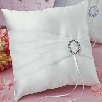 crystal eternity ring pillow